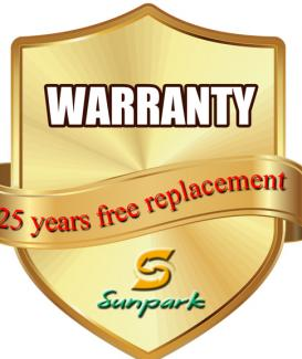 What warranties do Sunpark offer?