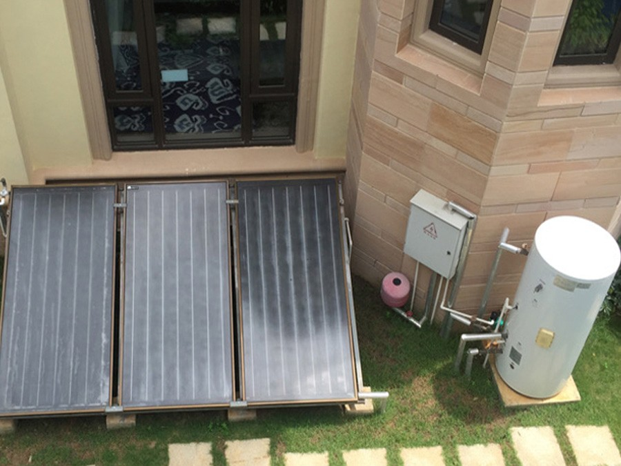 Flat Panel Solar Water Heating System