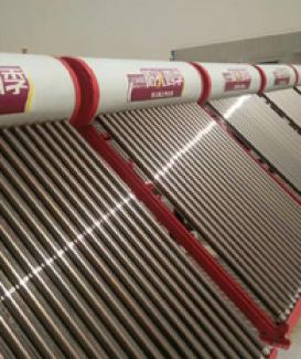 Non pressure solar heater in series