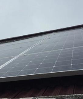 Home solar power grid tied