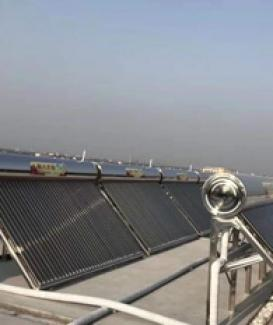 High pressure solar heater for hotel